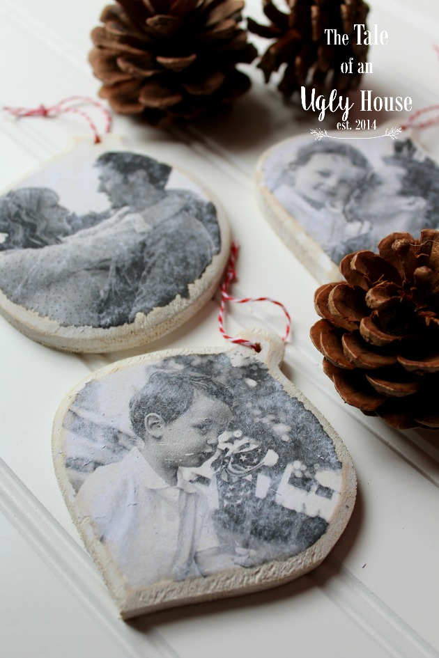 DIY Vintage Photo Ornaments