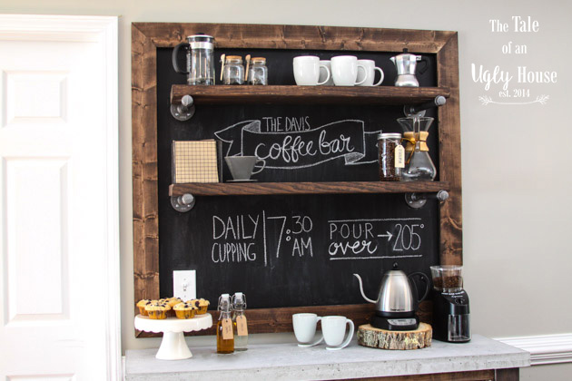 Coffee bar build sincerely marie designs for How to build a coffee bar