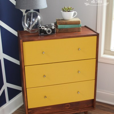 Mid Century IKEA Chest Makeover