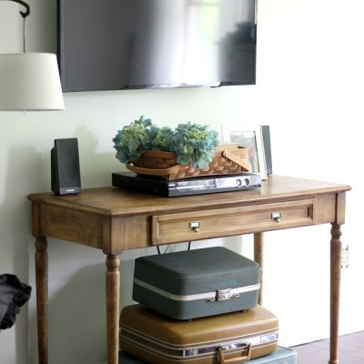 MDF Console Table Repair & Makeover