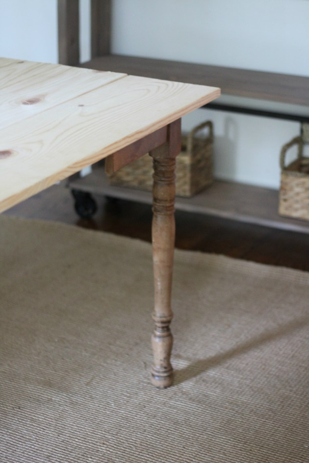 Our Dining Table Using Antique Legs