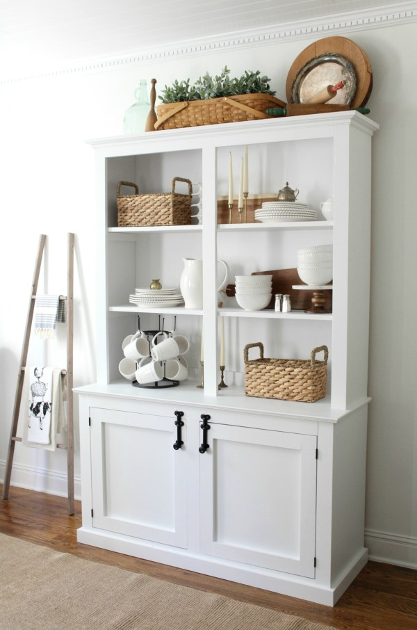Antique style hutch building plans sincerely marie designs for Cheap white cabinets sale