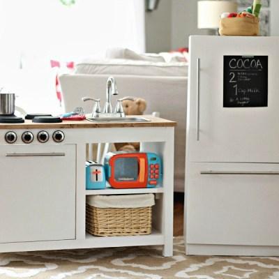 Farmhouse Style Kids Play Kitchen – Free Plans