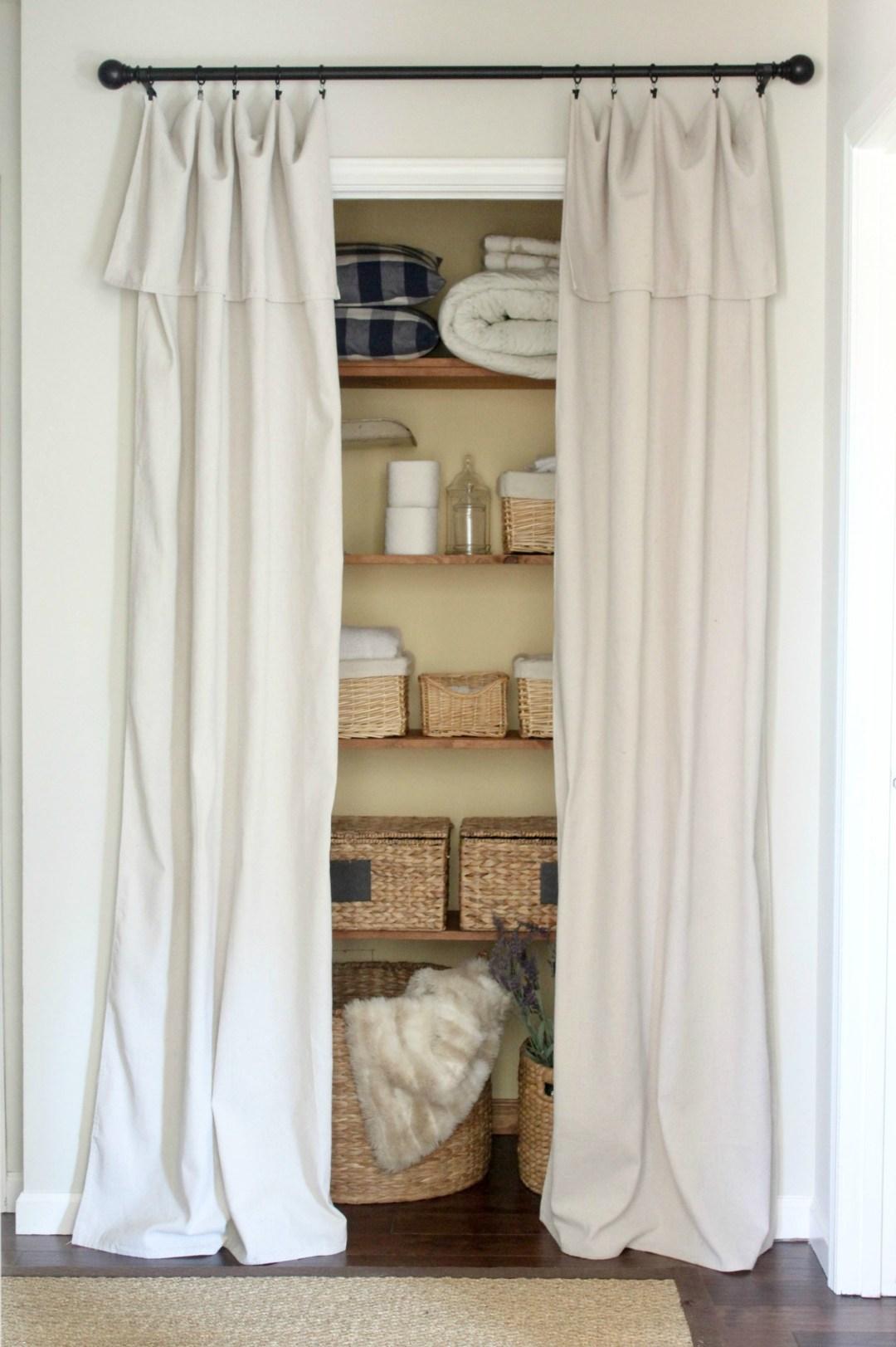 Closet Door Alternative Easy Drop Cloth Curtains