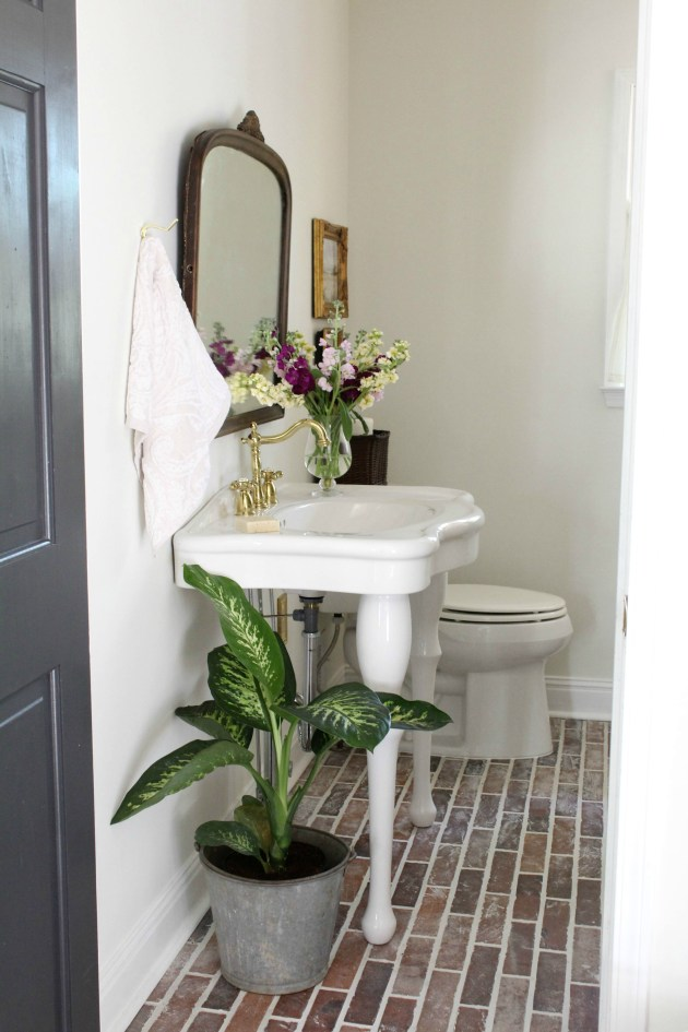 Vintage Inspired Powder Room