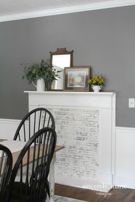 DIY Faux Fireplace and German Smear