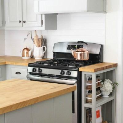 DIY Custom Kitchen Storage Shelf & Where We Are Today