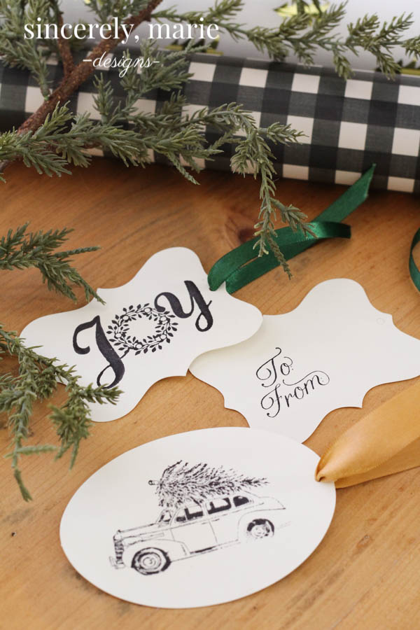 DIY Stamped Holiday Gift Tags- Sincerely, Marie Designs
