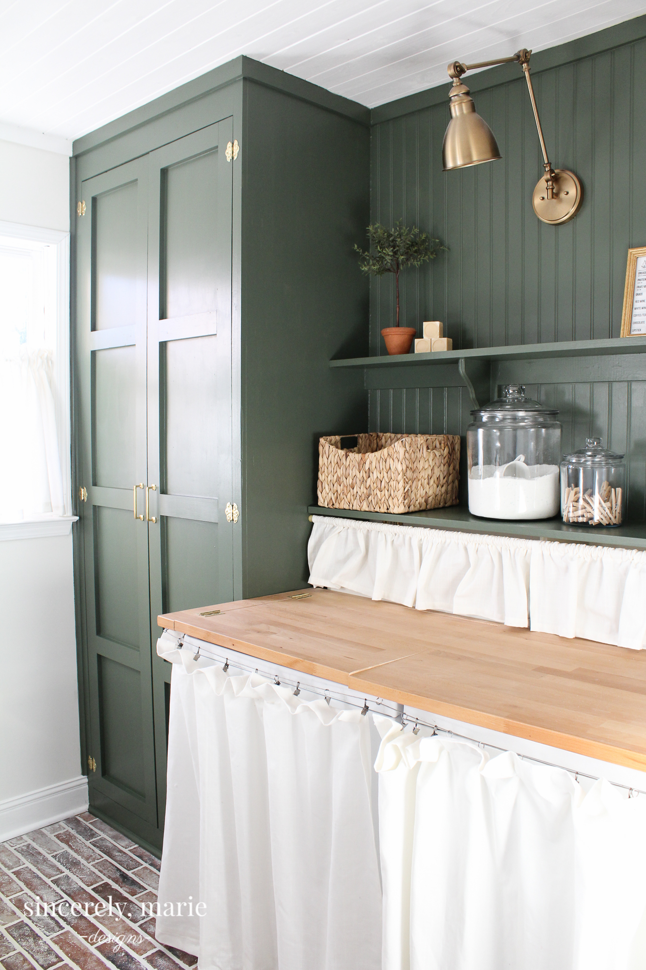 Laundry Room Update In Classic Dark Green Sincerely