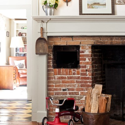 Stripping the Fireplace & Our New England Inspiration
