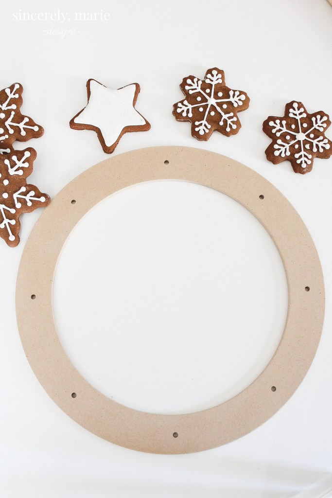 Christmas Gingerbread Cookie Wreath Sincerely Marie Designs