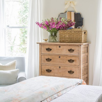 Minimalist Spring Bedroom