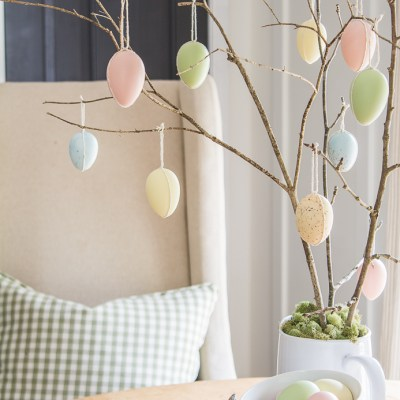 A Simple Hanging Egg Tree For Spring