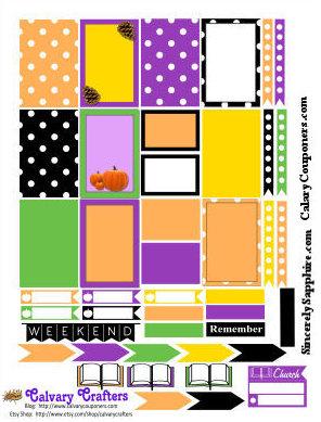 Autumn FREE Printable Planner Stickers