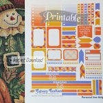 Early Autumn Printable Planner Stickers