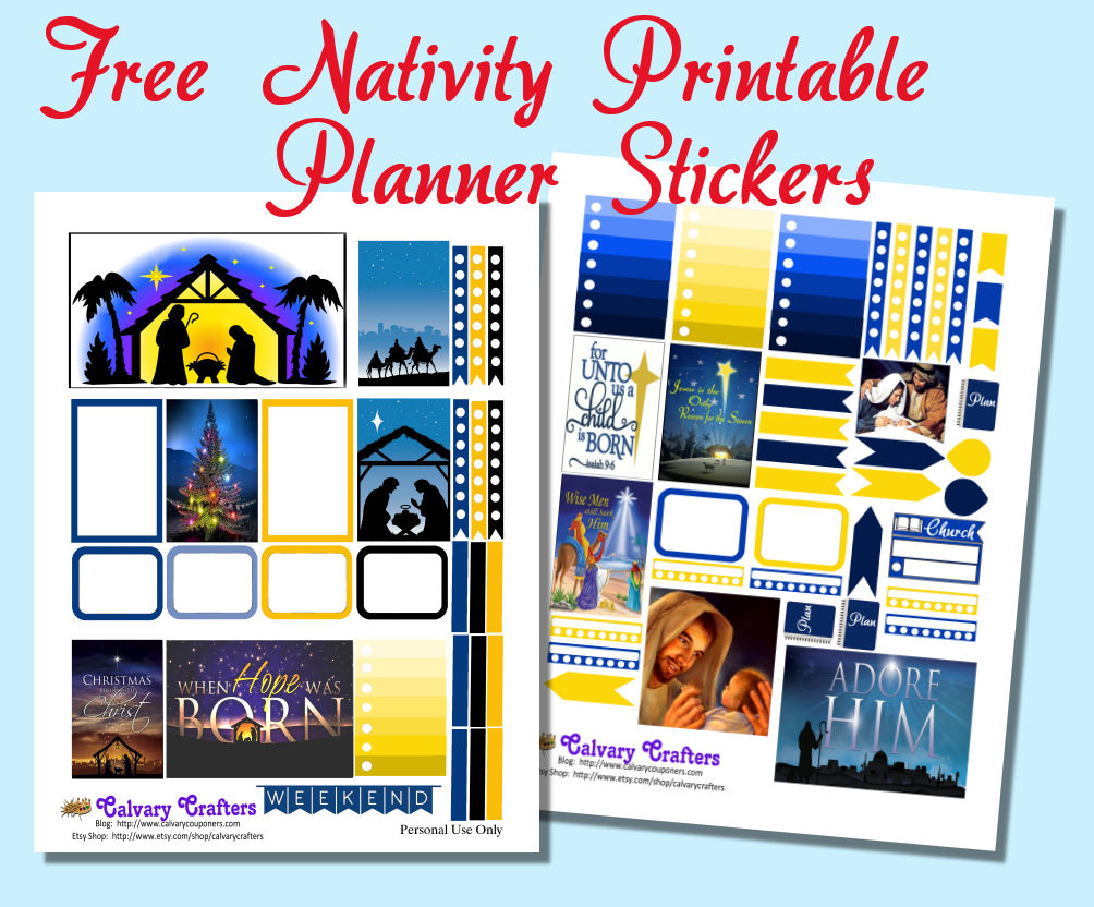 Freebie Friday -Christmas Nativity Planner Printables