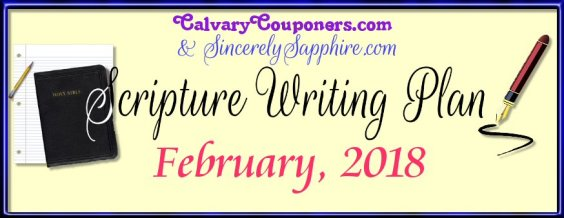 Scripture Writing Plan for February 2018