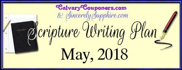May 2018 Scripture Writing Plan