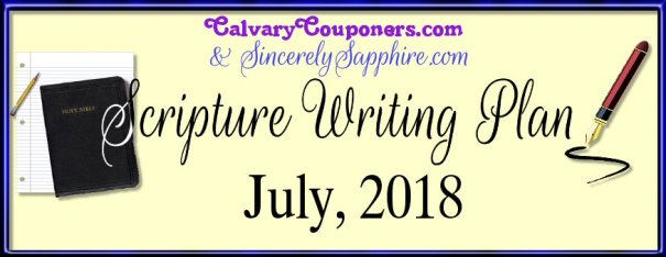 July 2018 Scripture Writing Plan