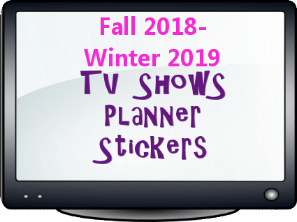 Printable Planner Stickers for TV shows 2018 2019