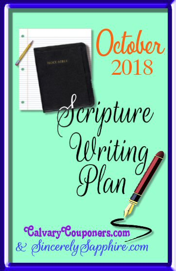 October 2018 Scripture writing plan