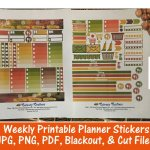 Autumn Road printable planner stickers