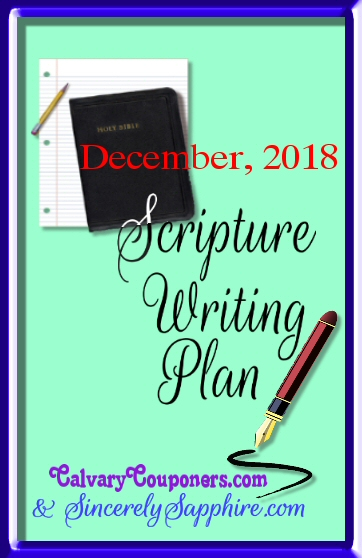 December scripture writing plan 2018