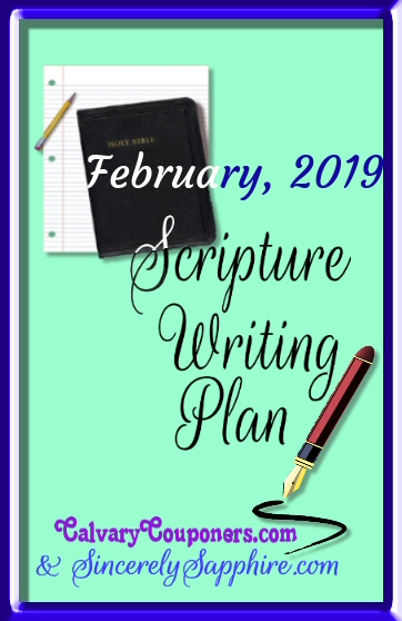 Scripture Writing Plan for February 2019