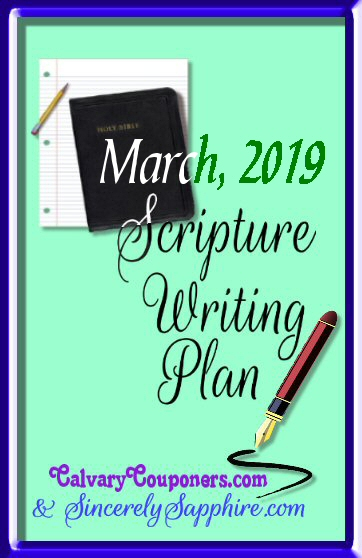 March 2019 scripture writing plan