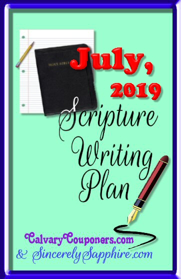 July 2019 scripture writing plan