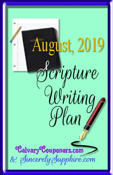 August 2019 Scripture Writing Plan header