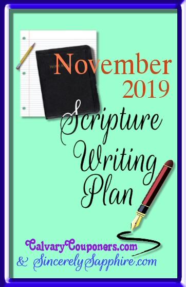 November 2019 scripture writing plan header