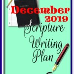 December 2019 scripture writing plan header