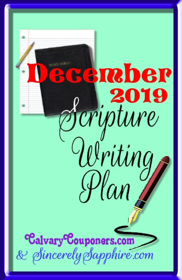 December 2019 scripture writing plan header