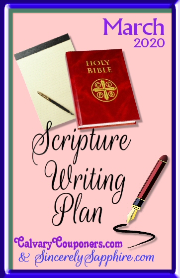 March 2020 Scripture Writing Plan -Perseverence