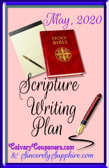 May Scripture Writing Plan header