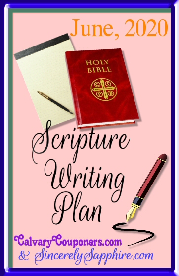 June 2020 scripture writing plan header