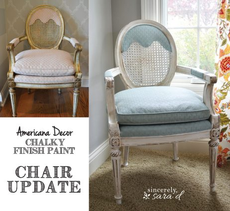 Painted Upholstered Chair using Chalk Paint