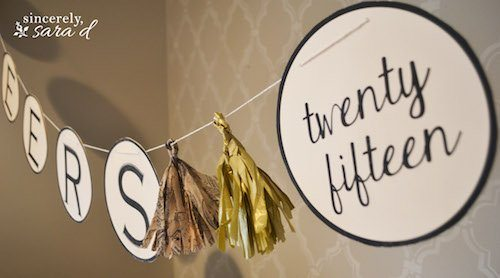 Bring in the new year with this simple and FREE New Year's Printable Banner!