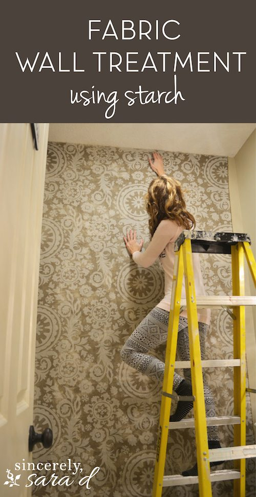 Fabric Wall Treatment Using Starch