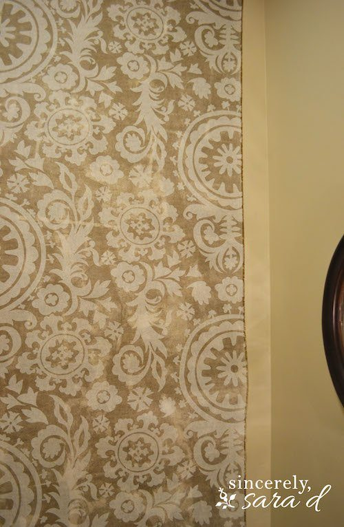 Starched Fabric Wall - just short!