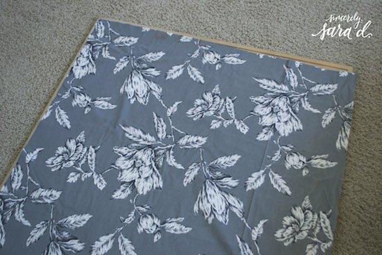 Adding fabric to corkboard