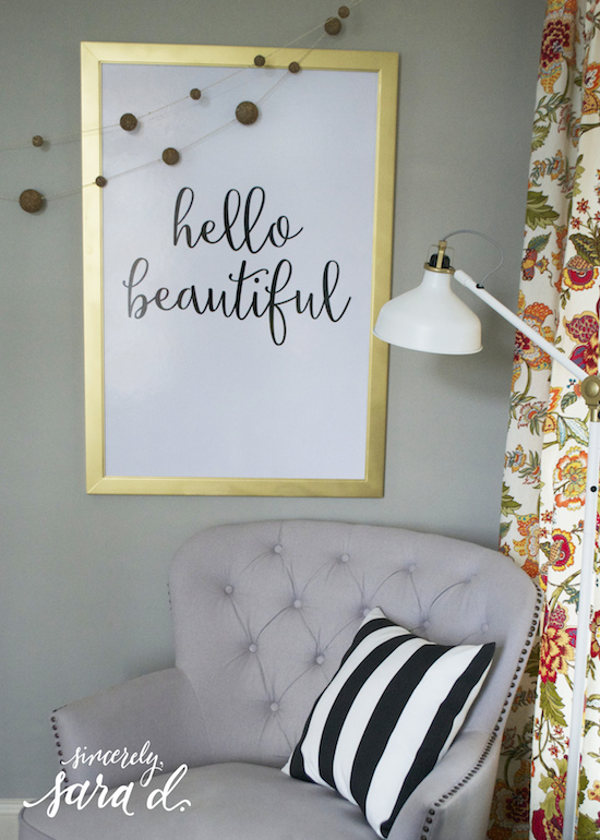 hello beautiful sign