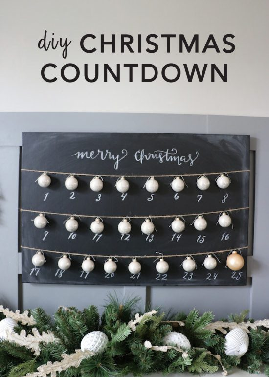 DIY Christmas Countdown Craft