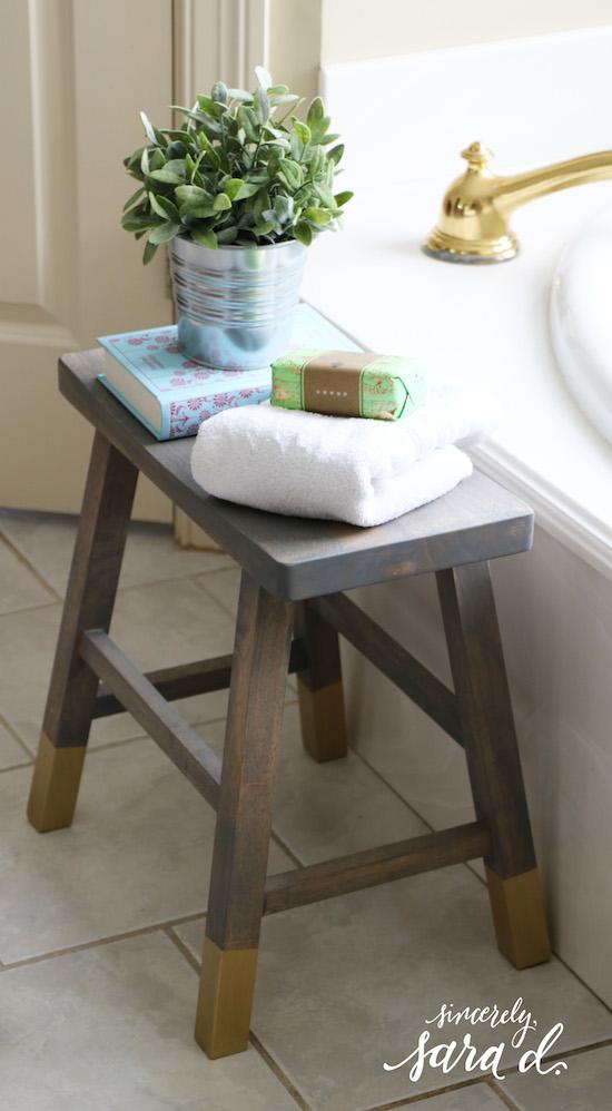Diy Bathroom Stool Sincerely Sara D Home Decor Diy Projects