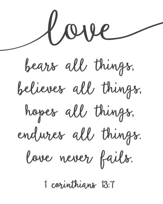 Love Never Fails 8x10