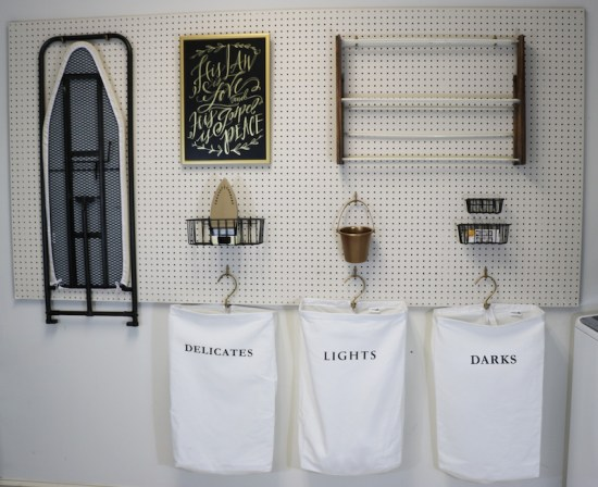 DIY Peg Board in Laundry Room