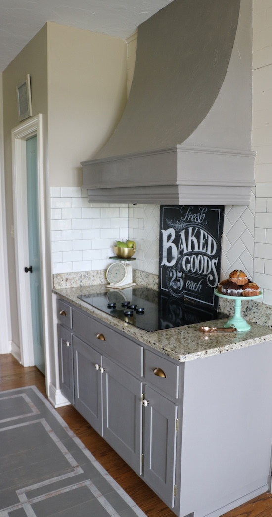 Painted Kitchen Cabinets with One Step Paint