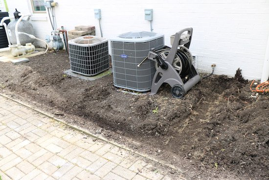 Adding a DIY fence around air conditioners