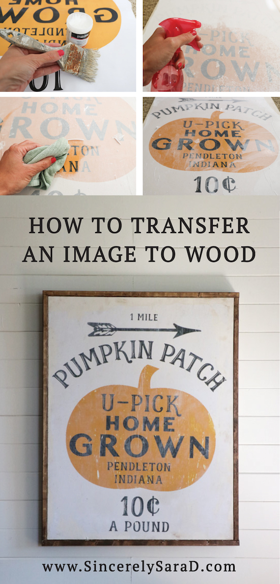 How to Transfer an Image to Wood